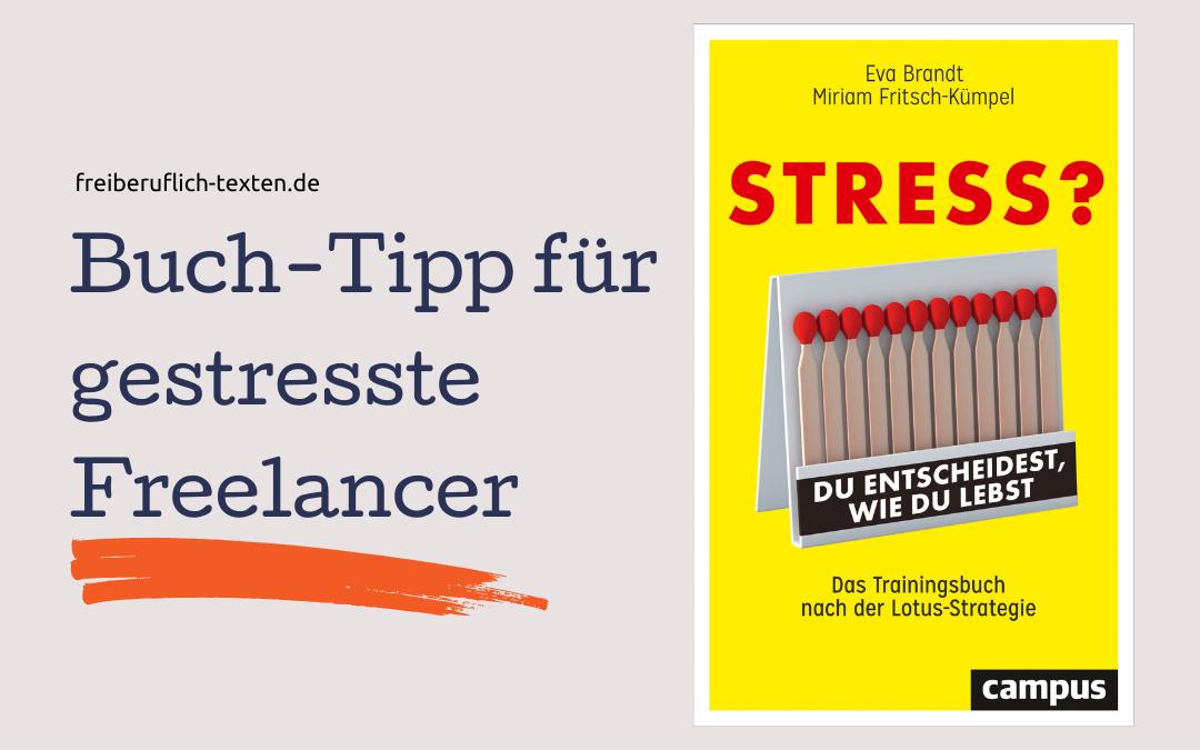 """Buch-Tipp: """"Stress? Du entscheidest, wie du lebst"""""""